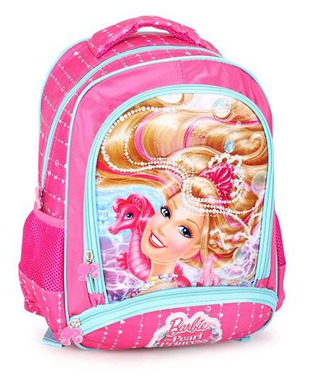 Barbie Mermaid Princess Backpack Pink - 14 inches