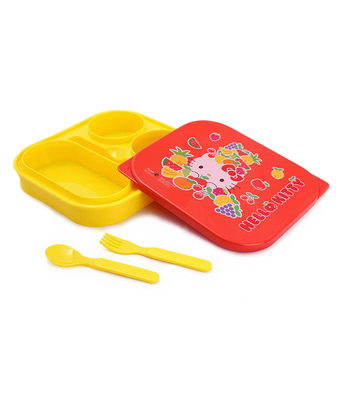 Hello Kitty Lunch Box - Yellow And Red