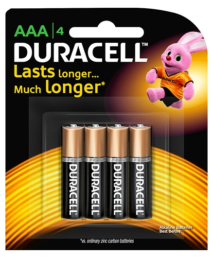 Duracell AAA Size Batteries - Pack Of 4