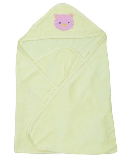 Babyhug Hooded Towel - Cat Face Patch