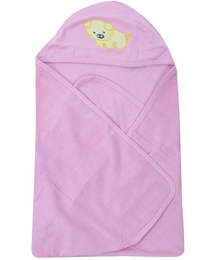 Babyhug Hooded Towel Pink - Dog Patch