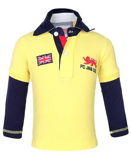 Finger Chips Doctor Sleeves T-Shirt - UK Flag Patch