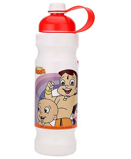 Chhota Bheem Water Bottle Red And White - 900 ml