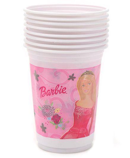 Barbie Plastic Cups Set of 8 - Pink