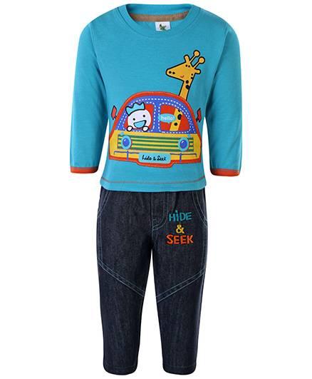 Cucumber Full Sleeves T-Shirt And Leggings - Hide And Seek Print