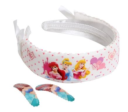 Hair Band & Clips - Disney Princess