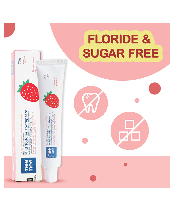 Mee Mee Strawberry Flavour Tooth Paste
