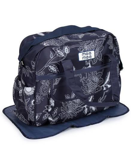 Mee Mee Nursery Bag Floral Print - Navy Blue