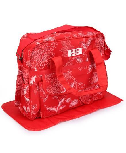 Mee Mee Nursery Bag Floral Print - Red