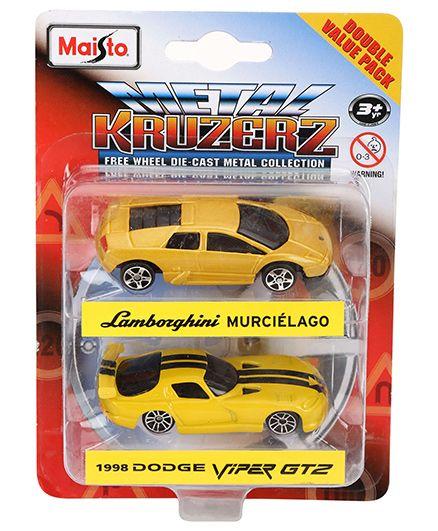 Maisto Lamborghini Murcielago and 1998 Dodge Viper GT2
