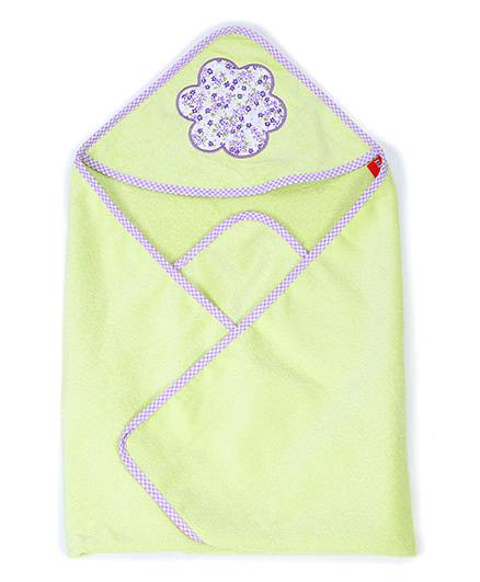 Sapphire Hooded Towel Floral Patch - Green