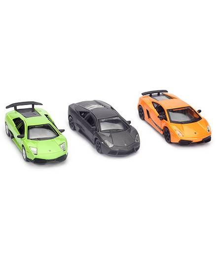 Maisto Pull Back Lamborghini Cars - Pack of Three