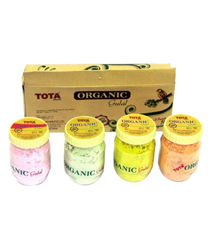 Tota Organic Gulal - 4 Pieces of Gift Pack