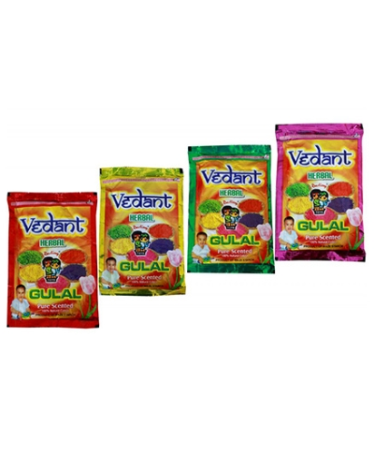 Vedant Herbal Gulal Pouch - 3 Pieces