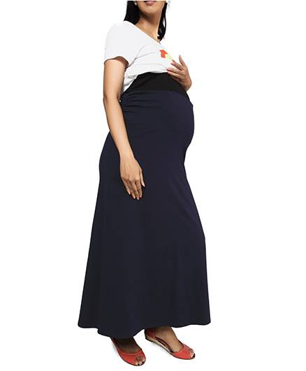 Nine Maternity Comfy Jersey Skirt In Navy