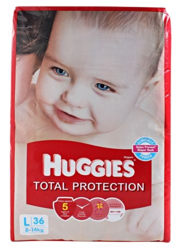 Huggies Total Protection Large - 36 Pieces