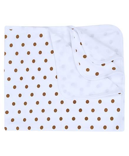 Babyhug Baby Towel Bobby Print - Orange And Blue
