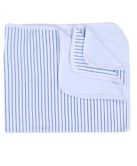 Babyhug Baby Towel Stripes Print - Blue