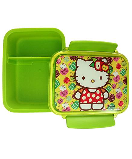 Hello Kitty Lunch Box Double Compartment - Green