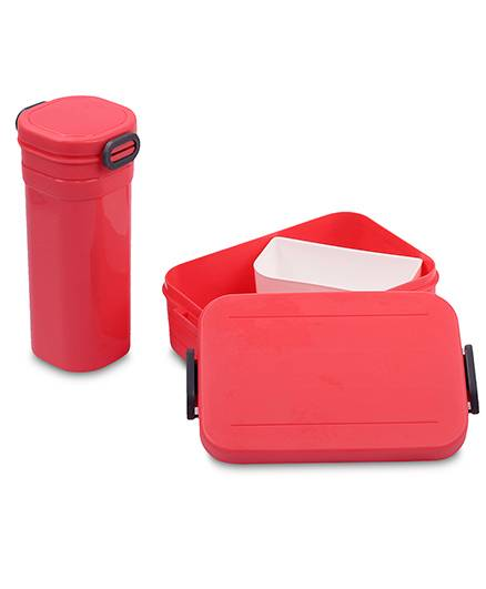Lunch Box And Water Bottle Set 500 Ml - Pink