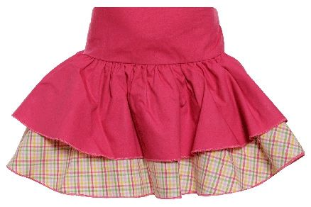 Juniors Layered Skirt - Red