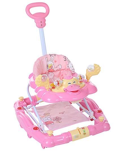 Mee Mee Walker Cum Rocker Rabbit Print - Pink