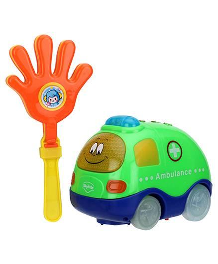 Mitashi Skykidz Clap And Zoom Ambulance Vehicle - Green