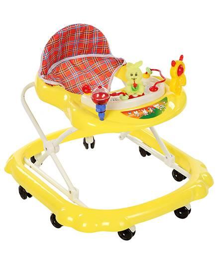 Musical Baby Walker Rabbit Toy - Yellow