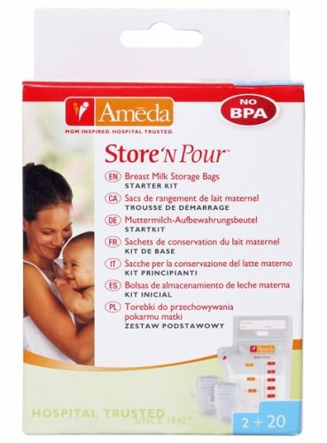 Ameda - Store N Pour Breast Milk Storage Bags  