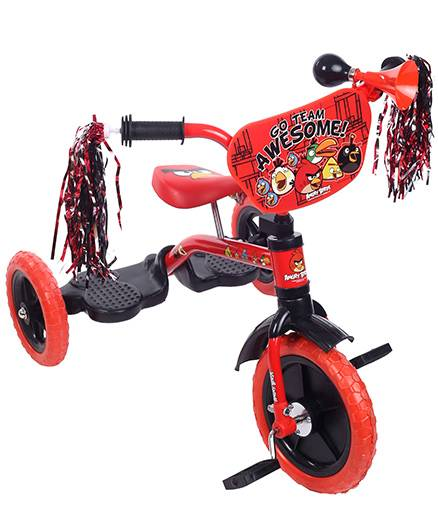 Angry Birds Tricycle With Shiny Frills - Red And Black