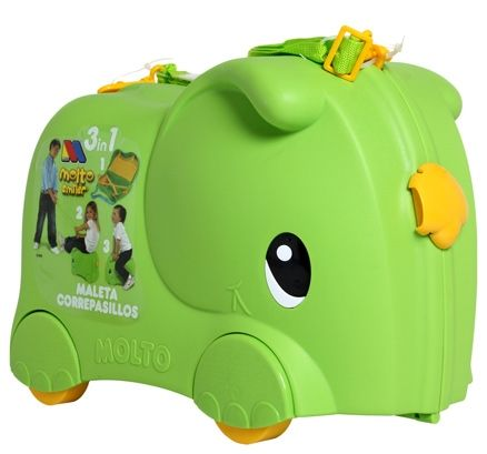 molto smiler elephant green 3 in 1 suitcase specially. Black Bedroom Furniture Sets. Home Design Ideas