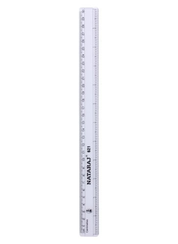 Natraj - 30 Cms Scale 30cms, Accurate Measurements With Bold Markings