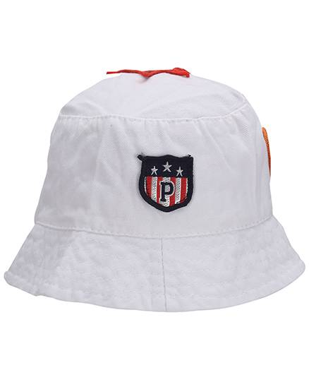 Babyhug Bucket Cap Embroidered Patch - White