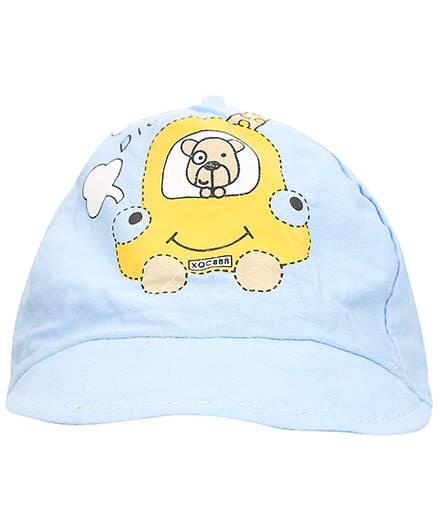 Babyhug Summer Cap Car Design - Blue And Yellow