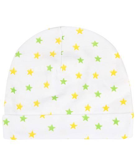 Babyhug Cap Star Print - Yellow And Green