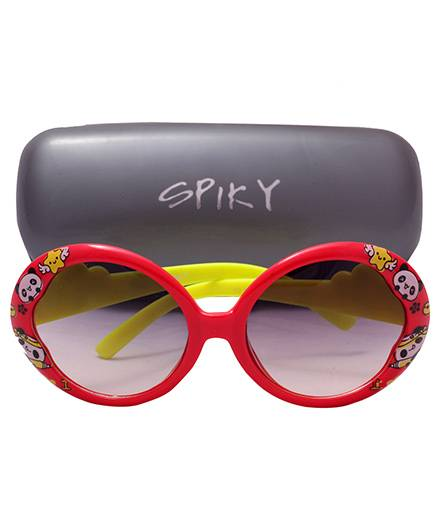 Spiky Sunglass 100 % UV Protection Oval - Red