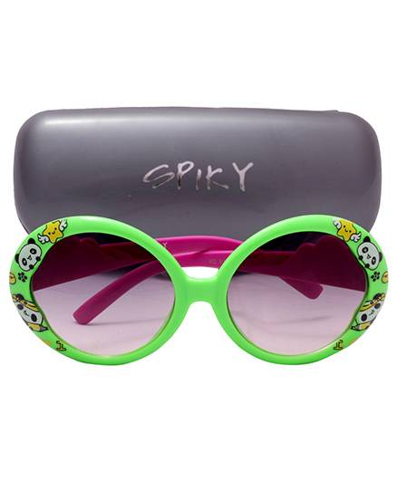 Spiky Sunglass 100 % UV Protection Oval- Green