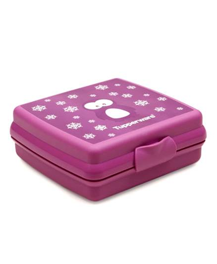 Tupperware Sandwich Keeper Penguin - Dark Purple