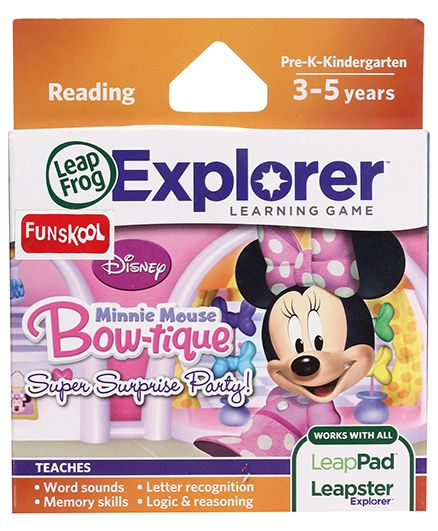 Leap Frog Explorer Learning Game Minnie Mouse Bowtique