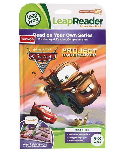 Leap Frog Leap Reader Disney Pixar Cars 2 Project Undercover