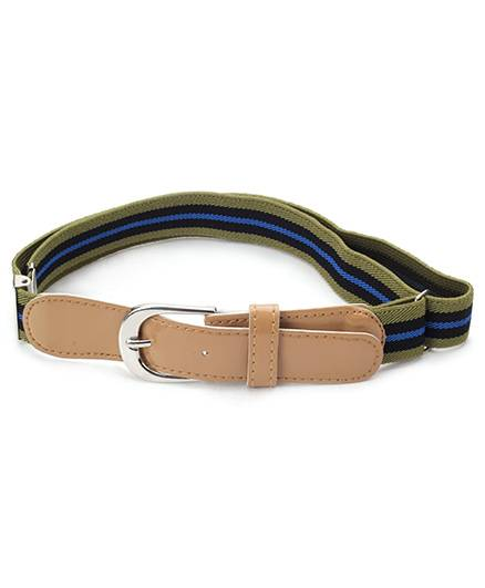 Babyhug Multi Stripes Belt - Peru Blue And Olive
