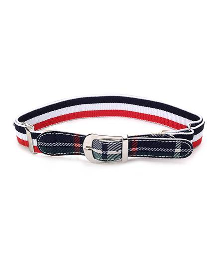 Babyhug Belt Stripes Pattern - White And Red