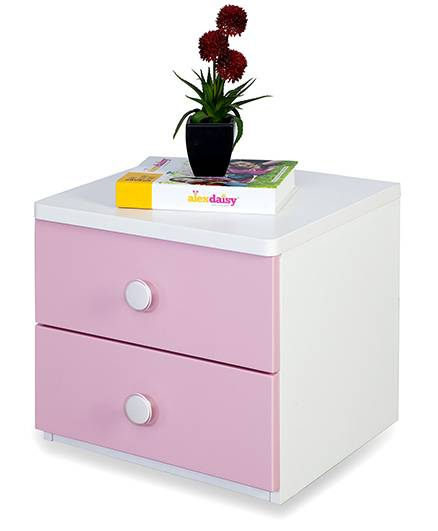 Alex Daisy Wooden Bedside Table - Victoria - Pink