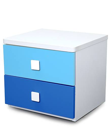 Alex Daisy Wooden Bedside Table Young America - Blue