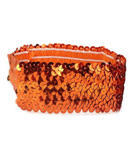 Dchica Blingy Sequined Headband- Orange