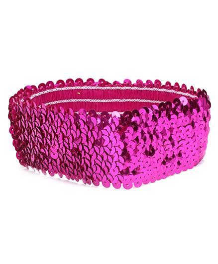 Dchica Blingy Sequined Headband- Fuschia