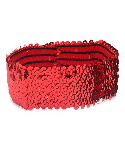 Dchica Blingy Sequined Headband- Red