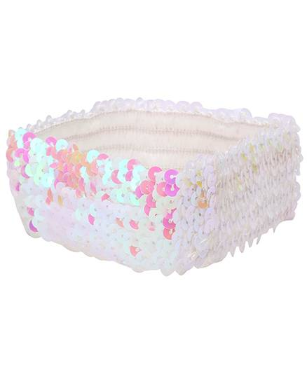 Dchica Blingy Sequined Headband- Pink