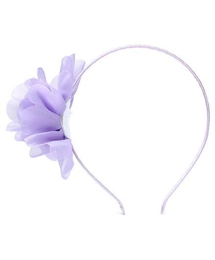Dchica Hair Band With Floral Applique-Mauve