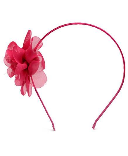 Dchica Hair Band With Floral Applique-Fuschia
